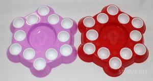 Блюдо пасхальное для яиц и кулича №2 (1 шт.)