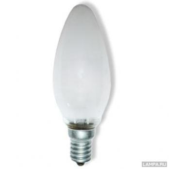 Лампа накаливания E14 свеча ДСМТ 40W матовая