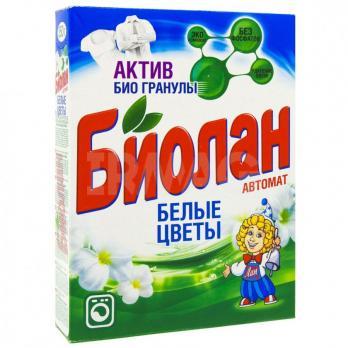 Порошок стиральный Биолан автомат белые цветы (350 г)