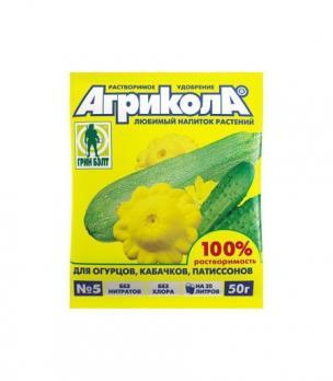 Удобрение Агрикола огурец, кабачок, патиссон (50 г)