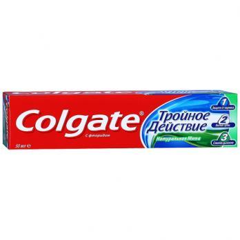 Зубная паста Colgate тройное действие (50 мл)