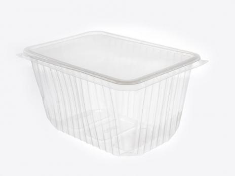 Одноразовый контейнер 1500 мл прямоугольный с крышкой 13x18x10 см (1 шт.)