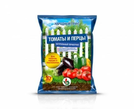 Почвогрунт Народный для томатов и перцев (10 л)