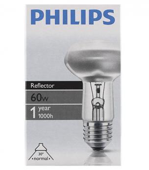 Лампа накаливания E27 Philips R63 60W