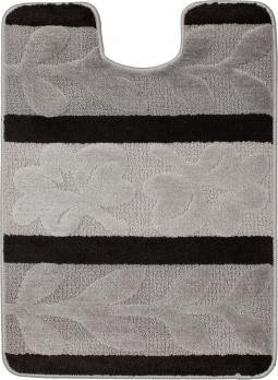 Коврик для туалета U-образный 60x80 см Нифертити Авангард полосатый серый