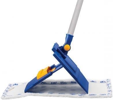 Швабра плоская микрофибра/абразив Лайма 130 см телескопическая ручка