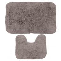 Комплект ковриков 60x100 см Aqua-Prime Be Maks серый (2 шт.)