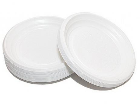 Одноразовая тарелка десертная d=170 мм (50 шт.)