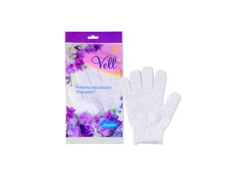 Мочалка-перчатка массажная 19x13 см Vell