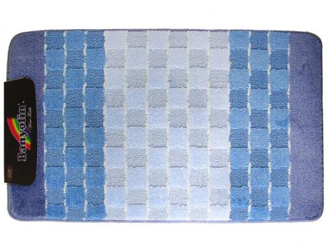 Коврик 60x100 см Banyolin silver голубой