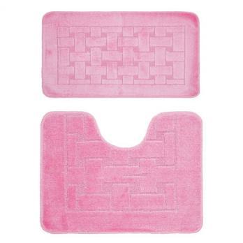 Комплект ковриков 55x90 см Banyolin classic розовый (2 шт.)