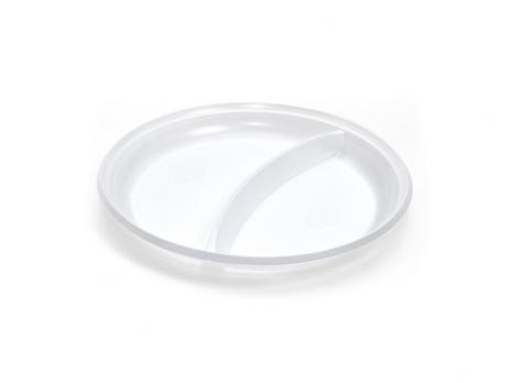 Одноразовая тарелка 2-секции d=210 мм (1 шт.)