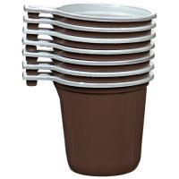 Одноразовая чашка для кофе 200 мл коричневая (1шт.)