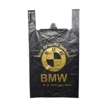 Пакет майка АВТО/БМВ 43x69 черный (10 шт.)