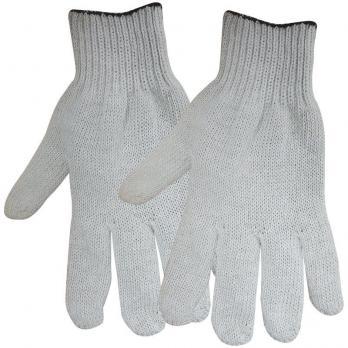 Перчатки х/б 4-5-6 нитей без покрытия белые/черные (1 пара)