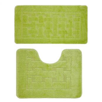 Комплект ковриков 50x80 см Banyolin зеленый (2 шт.)