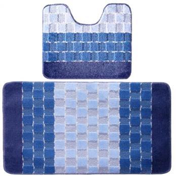 Комплект ковриков 50x80 см Banyolin silver голубой (2 шт.)