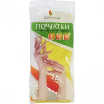 Перчатки резиновые ЕвроХаус М (1 пара)