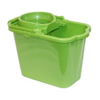 Ведро с отжимом 9,5 л М2421 прямоугольное зеленое