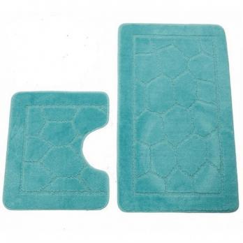Комплект ковриков 55x90 см Zalel turkuaz бирюзовый (2 шт.)