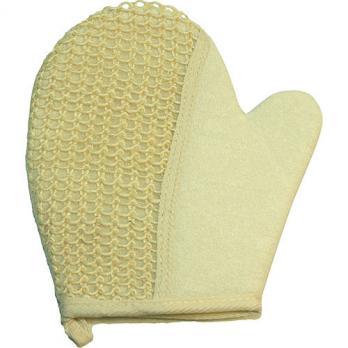 Мочалка рукавица сизалевая 22x19 см Vell