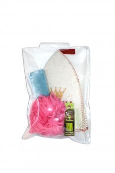Набор банный женский (шапка, мочалка, пемза)