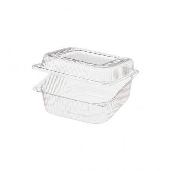 Одноразовый контейнер-коробочка 1 л РК-15Н квадратный с крышкой (1 шт.)
