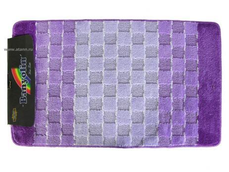 Комплект ковриков 60x100 см Banyolin silver фиолетовый (2 шт.)