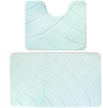 Комплект ковриков 60x100 см Banyolin classic зеленый (2 шт.)