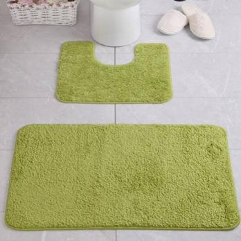Комплект ковриков 60x100 см Aqua-Prime Be Maks зеленый (2 шт.)