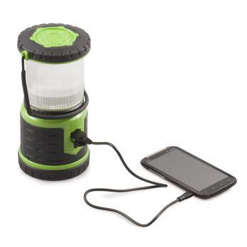 Фонарь светодиодный аккумуляторный Облик кемпинг 15 св. солнечная батарея USB (питание 3xAАА)