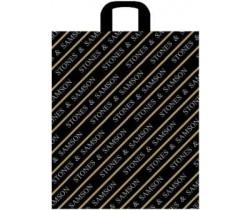 Пакет с петлевой ручкой Самсон/Золотая полоса/Соты черный (1 шт.)