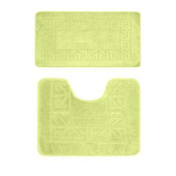 Комплект ковриков 60x100 см Banyolin зеленый (2 шт.)