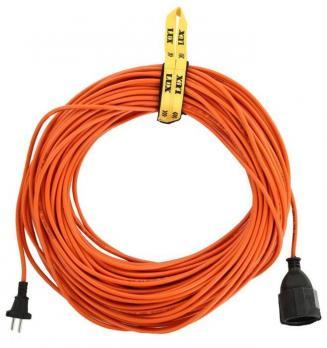 Удлинитель 1 розетка 10 м LUX УС1-0-10 силовой без катушки без заземления 2x0,75 мм2 10А 250В