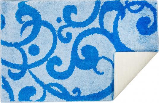 Коврик 50x80 см узоры микрофибра голубой