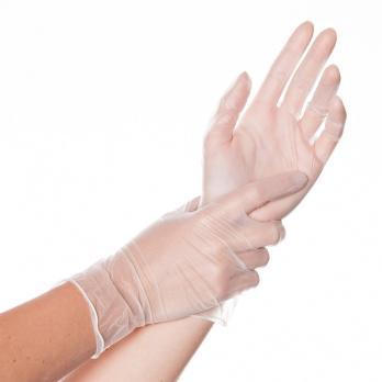 Перчатки виниловые (1 пара)