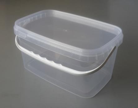 Ведро-контейнер 3,3 л с крышкой (прямоугольное)