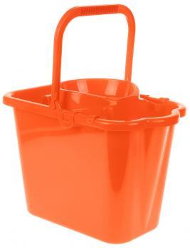 Ведро с отжимом 9,5 л М2421 прямоугольное оранжевое