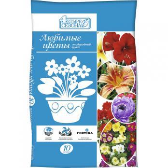 Почвогрунт Четыре сезона (Лама Торф) любимые цветы (10 л)