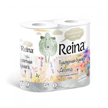 Бумага туалетная Reina двухслойная цветочная свежесть (4 шт.)
