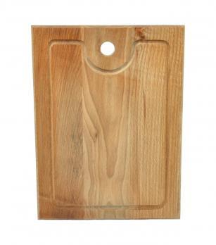 Доска разделочная деревянная 300x220x18 мм с канавкой бук