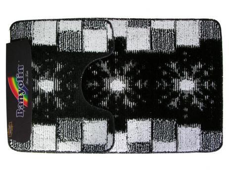 Комплект ковриков 60x100 см Banyolin classic color черный (2 шт.)