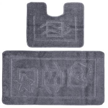 Комплект ковриков 50x80 см Confetti maximus серый (2 шт.)