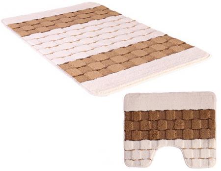 Комплект ковриков 50x80 см Banyolin silver кремовый бежевый (2 шт.)