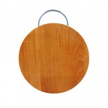Доска разделочная деревянная d=250 мм со скобой бук