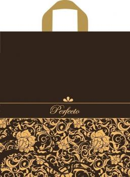 Пакет с петлевой ручкой ПВД 37x40 см Перфекто Браун темно-коричневый (1 шт.)