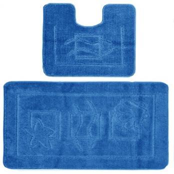 Комплект ковриков 60x100 см Confetti maximus голубой (2 шт.)