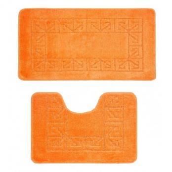 Комплект ковриков 55x90 см Banyolin classic оранжевый (2 шт.)