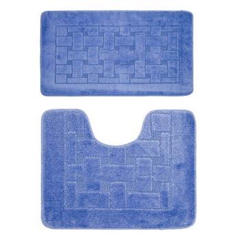 Комплект ковриков 50x80 см Banyolin classic голубой (2 шт.)