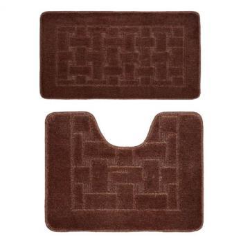 Комплект ковриков 50x80 см Banyolin classic коричневый (2 шт.)